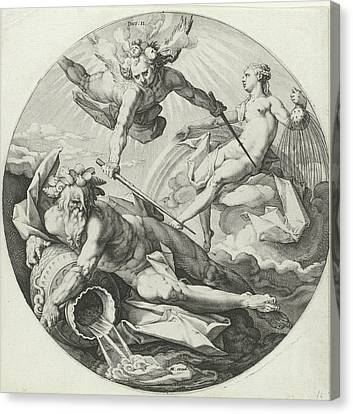 Decanters Canvas Print - Second Creation Parting Between The Waters by Jan Harmensz. Muller And Hendrick Goltzius And Hendrick Goltzius
