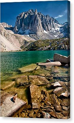 Second Lake And Temple Crag Canvas Print by Cat Connor