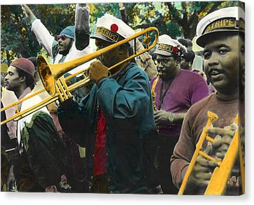 Second Line Euphoria Canvas Print by Ulf Sandstrom
