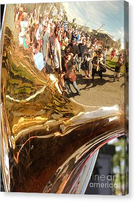 Second Line Tuba Canvas Print by Michael Hoard