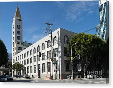 Second Street Clock Tower Near San Francisco Giants Att Park Dsc1200 Canvas Print by Wingsdomain Art and Photography