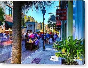 Second Sunday On King St. Charleston Sc Canvas Print