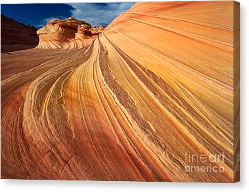Second Wave Surf Canvas Print by Inge Johnsson