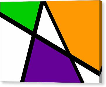 Meeting. Point Canvas Print - Secondary Triangularism I by Richard Reeve