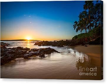 Secret Beach Sunset Canvas Print