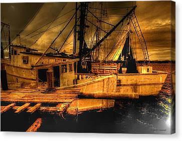 Canvas Print featuring the photograph Secret Catch by Dennis Baswell