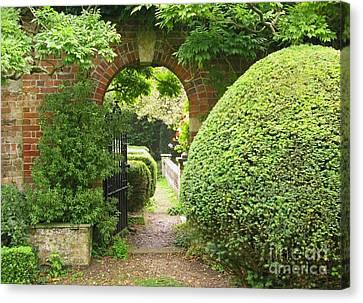 Secret English Garden Canvas Print by Ann Horn