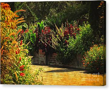Canvas Print featuring the photograph Secret Garden Path by Kathy Baccari