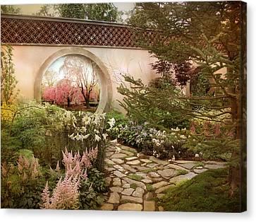 Secret Garden View Canvas Print