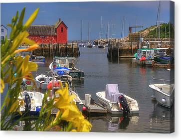 Row Boat Canvas Print - Secret Harbor - Rockport Ma by Joann Vitali
