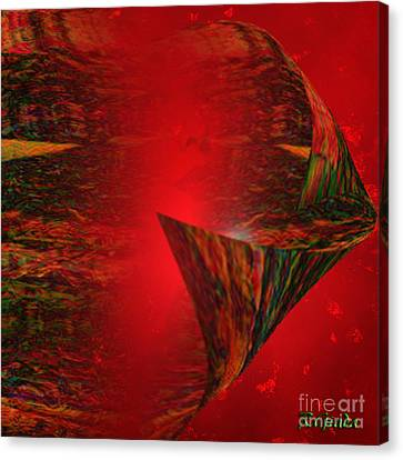 Canvas Print featuring the digital art Secret Love - Abstract Art By Giada Rossi by Giada Rossi