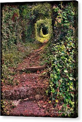 Secret Path On Guernsey Canvas Print by Bellesouth Studio