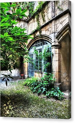 Secret Place In Vienne Canvas Print by Mel Steinhauer