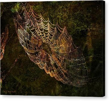 Secret Spider Sanctuary Canvas Print by J Larry Walker