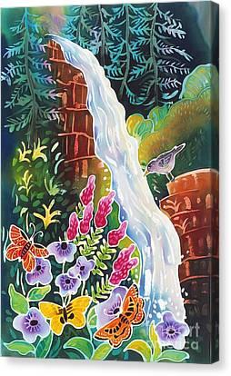 Secret Waterfall Canvas Print by Harriet Peck Taylor