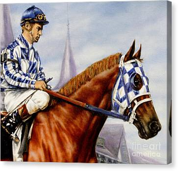 Horse Stable Canvas Print - Secretariat At Churchill by Thomas Allen Pauly