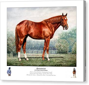 Secretariat Triple Crown Champion Canvas Print by Thomas Allen Pauly