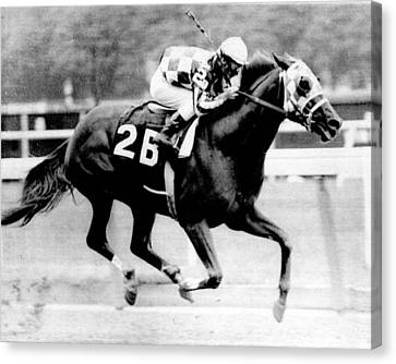 Dirt Canvas Print - Secretariat Vintage Horse Racing #12 by Retro Images Archive