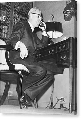Secretary Of Labor Goldberg Canvas Print by Underwood Archives