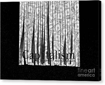 Secrets Behind The Veil Of Crony Capitalism Canvas Print