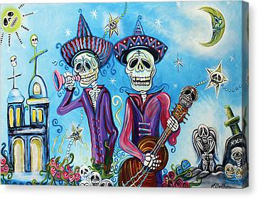 Secrets Of The Mariachi Canvas Print by Laura Barbosa
