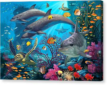 Secrets Of The Reef Canvas Print