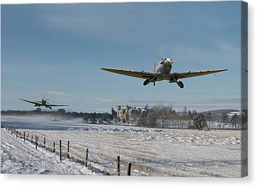 Snow Scenes Canvas Print - Section Scramble by Pat Speirs