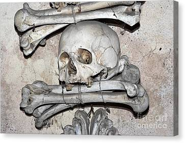 Sedlec Ossuary - Charnel-house Canvas Print by Michal Boubin