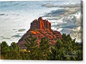 Sedona Arizona Bell Rock Painting Canvas Print by Gregory Dyer