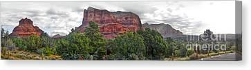 Sedona Arizona Bell Rock Panorama Canvas Print by Gregory Dyer