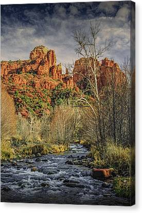 Sedona Arizona By Cathedral Rock Canvas Print by Randall Nyhof