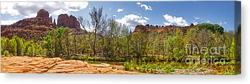 Sedona Arizona Cathedral Rock Panorama Canvas Print by Gregory Dyer