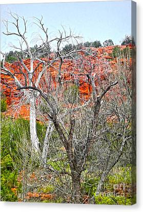 Sedona Arizona Dead Tree Canvas Print by Gregory Dyer