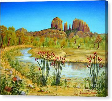 Sedona Arizona Canvas Print by Jerome Stumphauzer