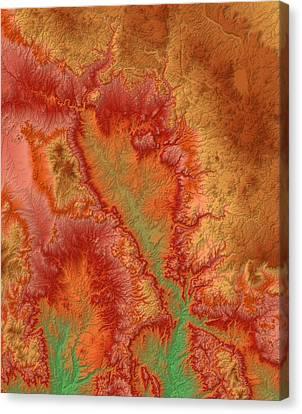 Sedona Arizona Map Art Canvas Print by Paul Hein