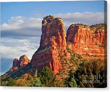 Sedona Arizona Mountain Peak Canvas Print by Gregory Dyer