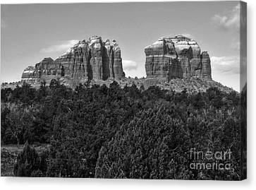 Sedona Arizona Mountains - Black And White Canvas Print by Gregory Dyer