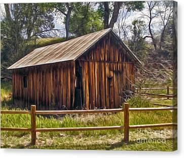 Sedona Arizona Old Barn Canvas Print by Gregory Dyer