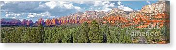 Sedona Arizona Panorama - 02 Canvas Print by Gregory Dyer