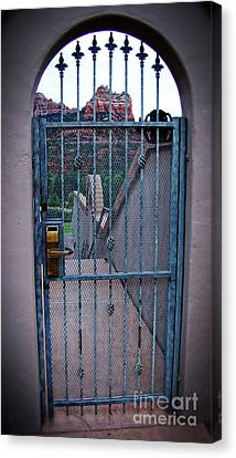 Sedona Iron Gate Entrance  Canvas Print by Beverly Guilliams
