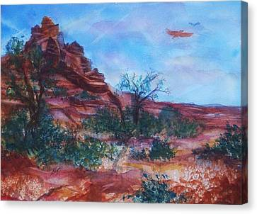 Sedona Red Rocks - Impression Of Bell Rock Canvas Print by Ellen Levinson
