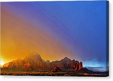 Sedona Stormy Sunset Canvas Print by Dan Turner