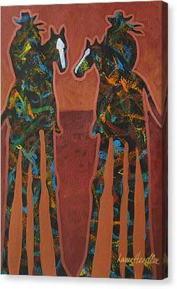 Sedona Sundown Canvas Print by Lance Headlee