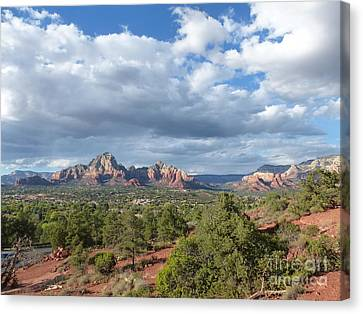 Sedona View Trail Canvas Print by Marlene Rose Besso