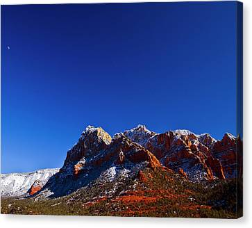 Canvas Print featuring the photograph Sedona Winter by Tom Kelly