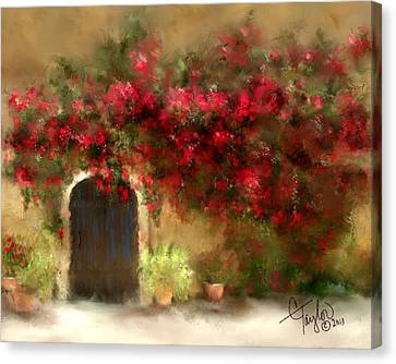 The Bougainvillea's Of Sedona Canvas Print by Colleen Taylor