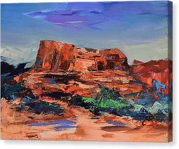 Sedona's Heart Canvas Print by Elise Palmigiani