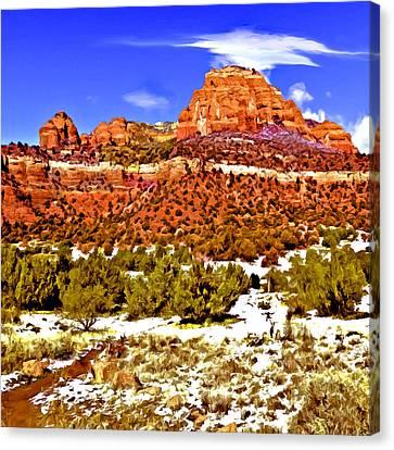 Sedona's Secret Wilderness Canvas Print by Bob and Nadine Johnston