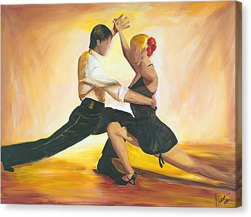 Canvas Print featuring the painting Seduction by Sheri  Chakamian