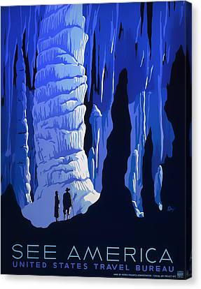 See America 1937 Canvas Print by Mountain Dreams